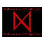 Rojo de la runa de Dagaz Postales