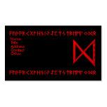 Rojo de la runa de Dagaz Tarjeta De Visita