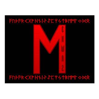 Rojo de la runa de Ehwaz Postal