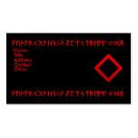 Rojo de la runa de Ingwaz Tarjetas De Visita