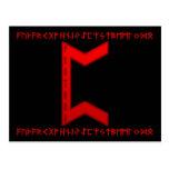 Rojo de la runa de Pertho Postal