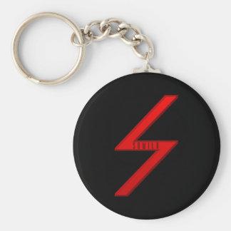 Rojo de la runa de Sowilo Llavero Personalizado