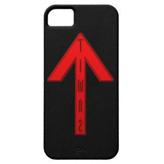 Rojo de la runa de Tiwaz iPhone 5 Carcasa