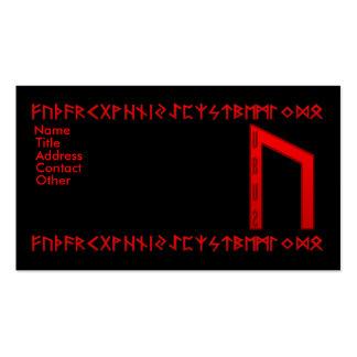 Rojo de la runa de Uruz Tarjetas De Visita