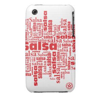 Rojo de la salsa iPhone 3 Case-Mate protectores