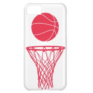 rojo de la silueta del baloncesto del iPhone 5 en