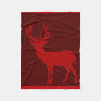 Rojo de la silueta el   Borgoña del macho de los Manta De Forro Polar