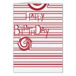 Rojo de la tarjeta de cumpleaños