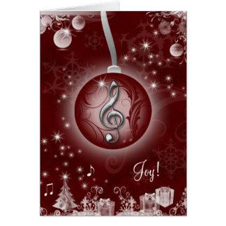 Rojo de la tarjeta de Navidad de la música