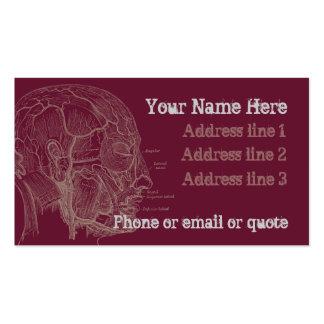 Rojo de la tarjeta de visita de la cabeza de la an