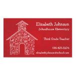 ROJO de la tarjeta de visita de los profesores de