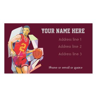 Rojo de la tarjeta de visita del baloncesto