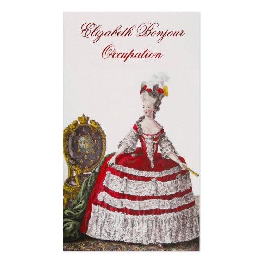 Rojo de la tarjeta de visita del ~ de la moda de M