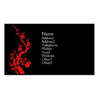 Rojo de la tarjeta del perfil del diseño del chino plantilla de tarjeta de negocio