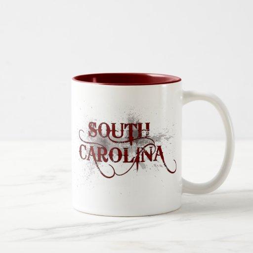 Rojo de la taza de Carolina del Sur del Grunge de