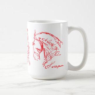 Rojo de la taza de los caballos del Dressage