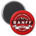 Rojo de la teja de Banff Imán De Frigorifico