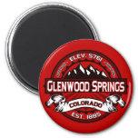 Rojo de la teja de Glenwood Imán Redondo 5 Cm