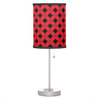 Rojo de la tela escocesa 1 lámpara de mesilla de noche
