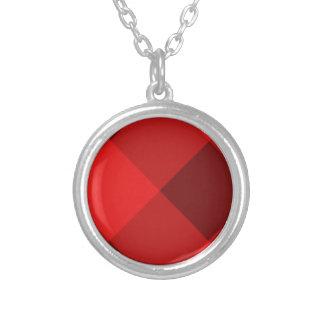 Rojo de la tela escocesa 2 collar personalizado