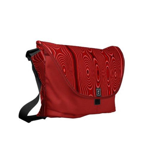 Rojo de la terracota bolsa de mensajeria