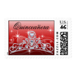 Rojo de la tiara del diamante de Quinceanera