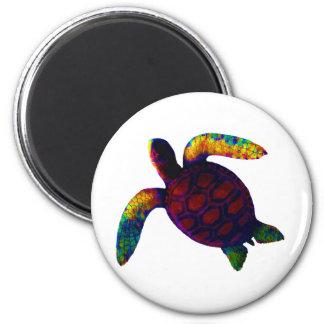 Rojo de la tortuga los regalos de Zazzle del MUSEO Imán Para Frigorifico