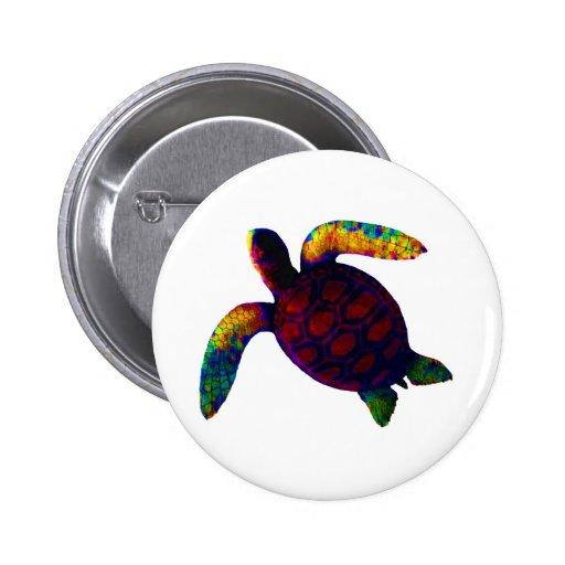 Rojo de la tortuga los regalos de Zazzle del MUSEO Pin Redondo 5 Cm