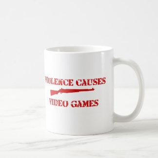 Rojo de la violencia tazas de café