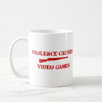 Rojo de la violencia taza clásica