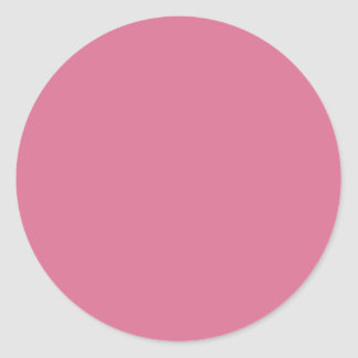 Rojo de la violeta pálida pegatina redonda