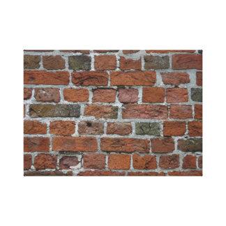 rojo de ladrillo de la pared de ladrillo de la par lona envuelta para galerias