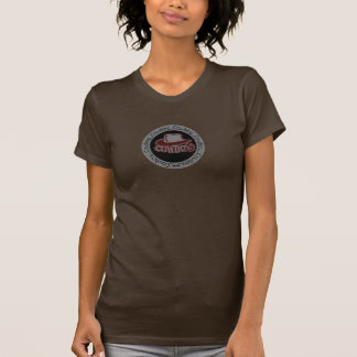 Rojo de ladrillo del gorra de vaquero/gris camisetas