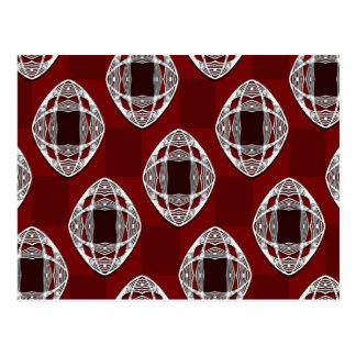 Rojo de ladrillo del tablero de damas del ojo de postales