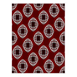 Rojo de ladrillo del tablero de damas del ojo de tarjeta postal