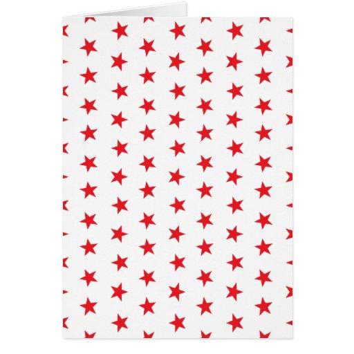 Rojo de las estrellas 8 tarjeta de felicitación