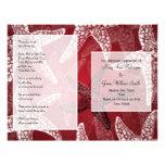 Rojo de las estrellas de mar del programa del boda tarjetas publicitarias