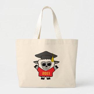 Rojo de las ovejas del muchacho y graduado 2011 de bolsa tela grande