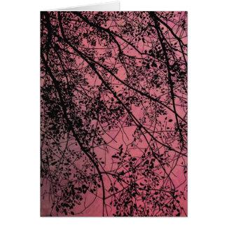 Rojo de las ramas de árbol, Gute Besserung Tarjeta De Felicitación