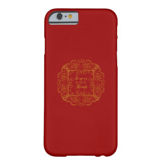 Rojo de Le Monde del revendedor de Bonjour y Funda De iPhone 6 Barely There