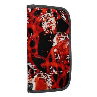 Rojo de Leonardo Digital del mal y negro abstracto Planificadores