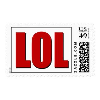 Rojo de LOL Sello Postal