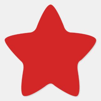 Rojo de los BU Pegatina En Forma De Estrella