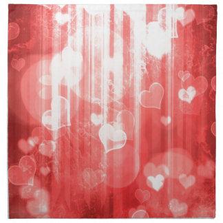 Rojo de los corazones de Bokeh 04 i Servilletas De Papel