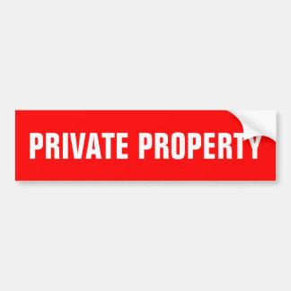Rojo de los pegatinas el | de la propiedad privada pegatina para auto