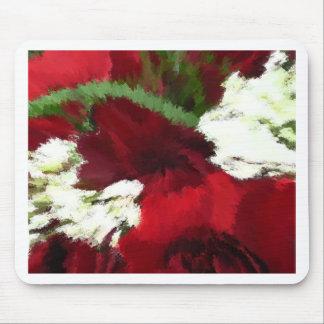 Rojo de los rosas r alfombrillas de ratón