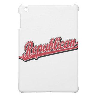 Rojo de lujo del logotipo republicano de la escrit