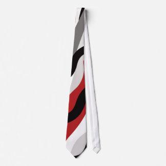 Rojo de MAO, negro de encargo, blanco y lazo gris Corbatas Personalizadas