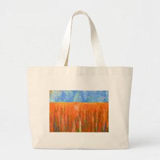 Rojo de marea (paisaje marino abstracto) bolsas de mano
