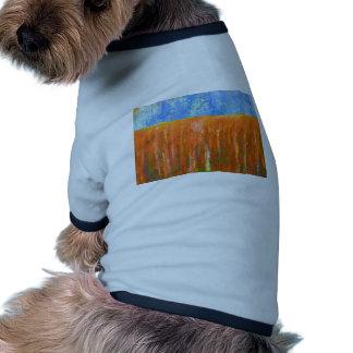 Rojo de marea paisaje marino abstracto camisetas de perrito